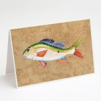 Carolines Treasures  8816GCA7P Rainbow Trout Greeting Cards and Envelopes Pack o - A7