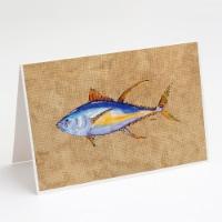 Carolines Treasures  8817GCA7P Tuna Fish Greeting Cards and Envelopes Pack of 8 - A7