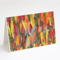 Carolines Treasures  8893GCA7P Hot Peppers Greeting Cards and Envelopes Pack of - A7