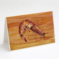 Cooked Shrimp Spicy Hot Greeting Cards and Envelopes Pack of 8 - A7