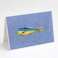 Carolines Treasures  8521GCA7P Dolphin Mahi Mahi Greeting Cards and Envelopes Pa - A7