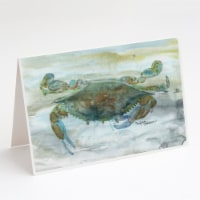 Crab a leg up Watercolor Greeting Cards and Envelopes Pack of 8 - A7