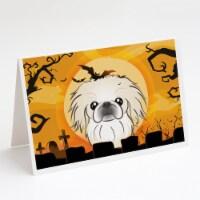 Carolines Treasures  BB1779GCA7P Halloween Pekingese Greeting Cards and Envelope - A7