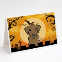 Halloween Chocolate Labrador Greeting Cards and Envelopes Pack of 8 - A7
