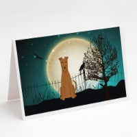 Halloween Scary Irish Terrier Greeting Cards and Envelopes Pack of 8 - A7