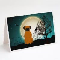 Halloween Scary Fawn Boxer Greeting Cards and Envelopes Pack of 8 - A7