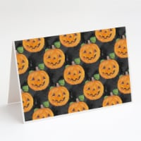 Watecolor Halloween Jack-O-Lantern Greeting Cards and Envelopes Pack of 8 - A7