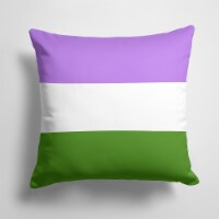 Carolines Treasures  CK7994PW1414 Genderqueer Pride Fabric Decorative Pillow