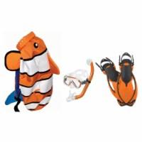 HEAD 480315SFCLFSM Premium Youth Sea Pals Snorkel Mask & Fins Set, Orange, SM