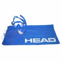 HEAD Adventure Junior Combo 4-in-1 Complete Snorkeling Diving Kit, Light Blue