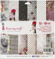 Dress My Craft DMCP2553 Be Mine Collection - 12 x 12 in. Paper Pad