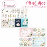 Dress My Craft Image Sheet 240gsm A4 2/Pkg-Mini Moo #2 - 1