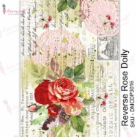 Dress My Craft Transfer Me Sheet A4-Reverse Rose Doily - 1