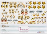 Dress My Craft Image Sheet 240gsm A4 2/Pkg-Nutty Buddy - 1