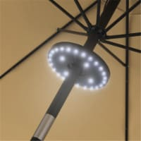 Pure Garden 50-LG1213 0.86-1.8 in. Rechargeable Patio Umbrella Cordless 28 LED Lights, Black