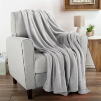 """Fleece Throw Blanket- For Couch, Home Décor, Sofa & Chair- Oversized 60"""" x 70""""- Lightweight, - 1 unit"""