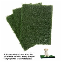 Replacement Grass Mats- Set of 3 Turf Pads for Puppy Potty Trainer Fake Grass is 18.5 x 14 - 1 unit