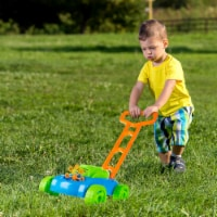 Bubble Machine Lawnmower Outdoor Toddler Toy Walk Behind Lawn Mower Bubble Maker with Sounds - 1 unit