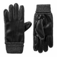 Isotoner­® Men's Large Stretch Faux Nappa Gloves - Black