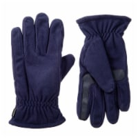Isotoner­® Men's Large Fleece Gloves - Navy
