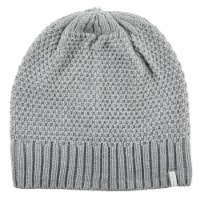 Isotoner® Women's Lined Water Repellent Textured Knit Beanie - Grey