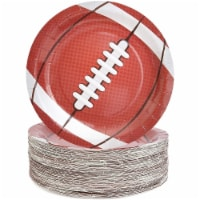 Football Paper Plates for Sports Party (9 In, 80 Pack) - PACK