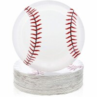 Sports Party Supplies, Baseball Paper Plates (9 In, 80-Pack) - PACK