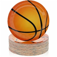 Paper Basketball Plates, Game Day Sports Party Supplies, (9 In, 80 Pack) - PACK