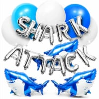 Shark Party Balloons, Foil Balloon Letters (50 Pack) - PACK