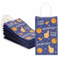 Small Basketball Gift Bags with Handles for Sports Party (5.3 x 9 x 3 in, 24 Pack) - PACK