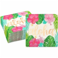 Aloha Hawaiian Paper Napkins for Luau Birthday Party (5 x 5 In, 50 Pack) - PACK