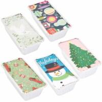 50x Christmas Disposable Aluminum Foil Loaf Pan Lid 8.5 x 2.5 x 4.5 inch (22 Oz) - Pack