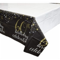 Sparkle and Bash 3 Pack 60th Birthday Plastic Table Covers 54 x 108 Inches - PACK