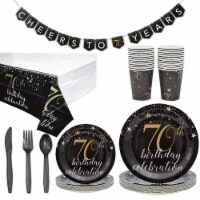 70th Birthday Party Supplies Pack (Serves 24, 146 Total Pieces)