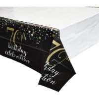 Sparkle and Bash 70th Birthday Plastic Table Covers, 3 Pack, 54 x 108 Inches - PACK