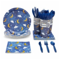Twinkle Little Star Baby Shower Party Pack (Serves 24) Paper Plates, Napkins, Cups & Cutlery