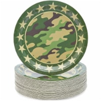 Blue Panda Camo Party Plates (80 Count) 9 Inches
