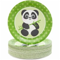 Blue Panda Animal Panda Party Plates (80 Count) 9 Inches - PACK