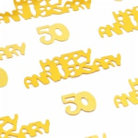 Sparkle and Bash Gold 50th Anniversary Confetti, Table Party Decorations - PACK