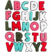 52 Count Iron On Alphabet Letter Patches A - Z For Jean Jacket Tote Back Tee Hat - PACK
