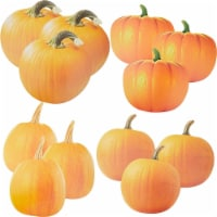 Large PaperPumpkin Decorfor FallHalloween Decorations(4 Sizes, 12 Pack) - PACK