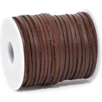 Flat Leather Cord for Jewelry Making, Faux Suede Beading String (Dark Brown, 30.5 Yd) - PACK