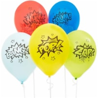 Comic Book Hero Themed Birthday Balloons for Kids (12 In, 5 Colors, 50 Pack) - PACK
