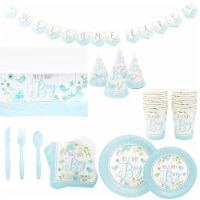 Sparkle and Bash Hello Baby Boy Bird Themed Baby Shower Decorations (24 Guests, 194 Pieces)