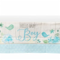Sparkle and Bash Boy Baby Shower Table Covers (54 x 108 in., Blue, Pack of 3) - PACK