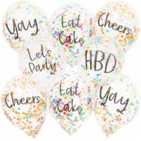 Confetti Birthday Party Balloons (12 in, 30 Pack) - PACK