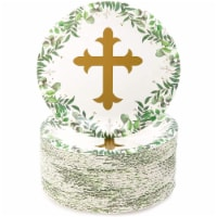 Sparkle and Bash Disposable Paper Plates with Religious Theme (7 in., Pack of 80) - PACK