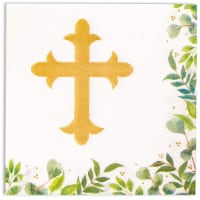 Church Paper Napkins for Baptism or Christening Party (6.5 x 6.5, 100 Pack) - Pack