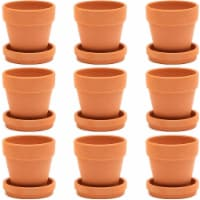 Terra Cotta Pots with Saucer (3 in, 9 Pack) - Pack