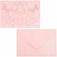 Pink Shimmer Wedding Invitation with Envelopes (7 x 5 in, 24 Pack) - PACK